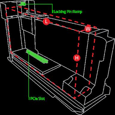 Razer Core V2 max inner dimensions