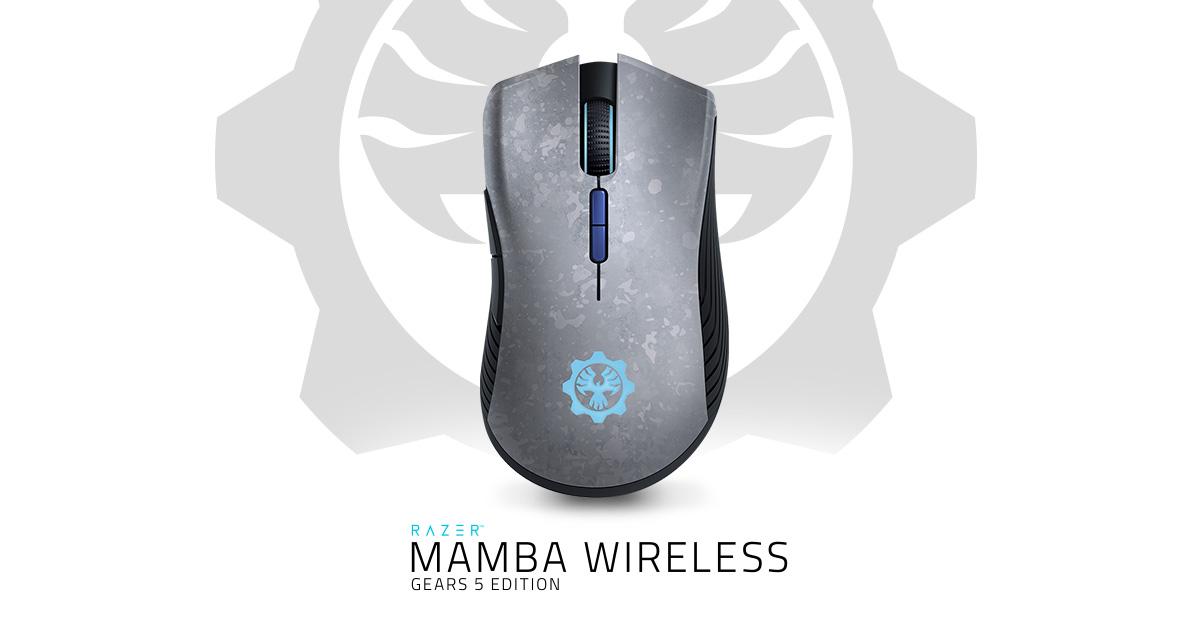 Kết quả hình ảnh cho Razer Mamba Wireless Gears 5 Edition