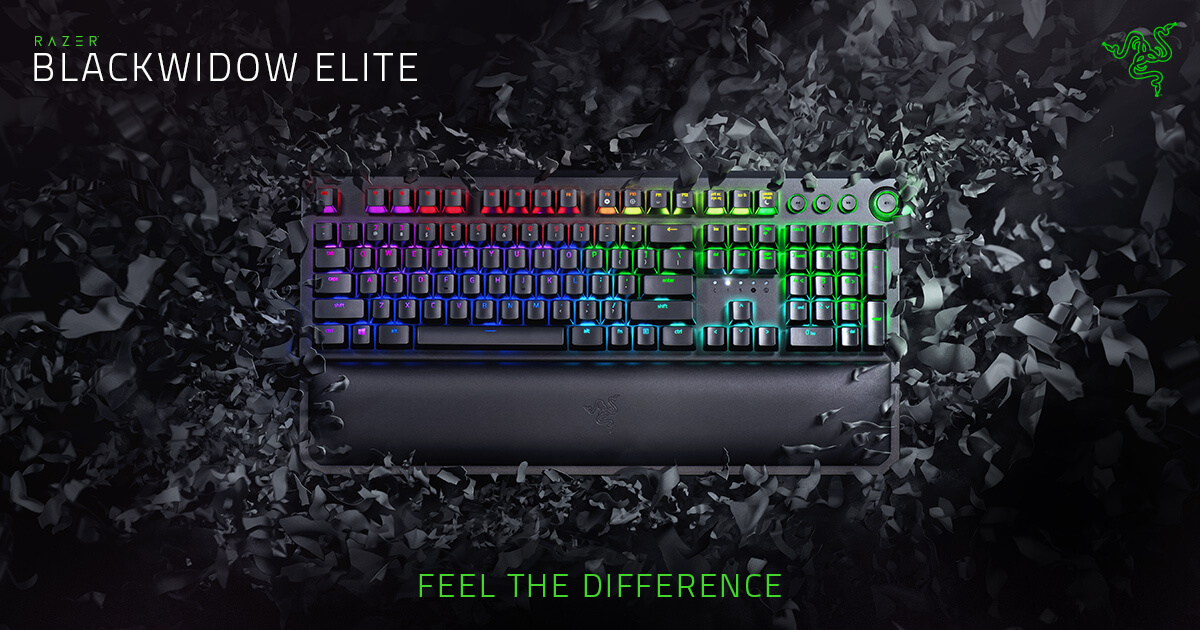 Razer Hypershift Tactile and Clicky Razer BlackWidow Essential: Esports Gaming Keyboard Renewed Durable up to 80 Million Keystrokes Razer Green Mechanical Switches