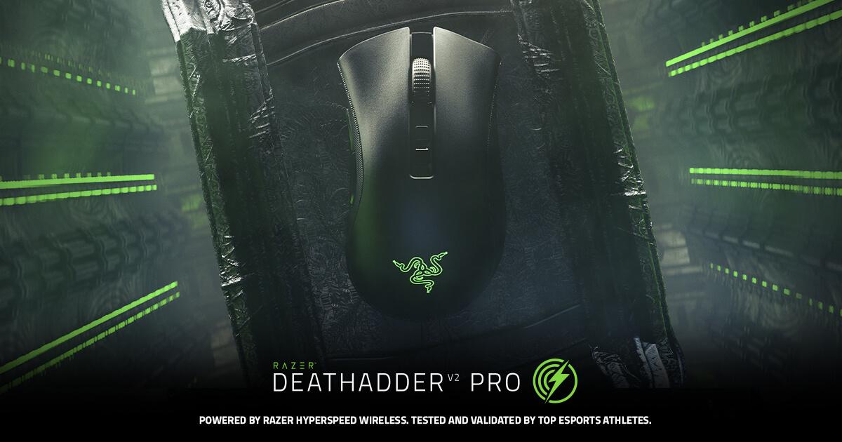 Wireless Ergonomic Gaming Mouse - Razer DeathAdder V2 Pro