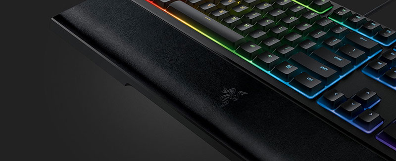 keyboard with wrist rest