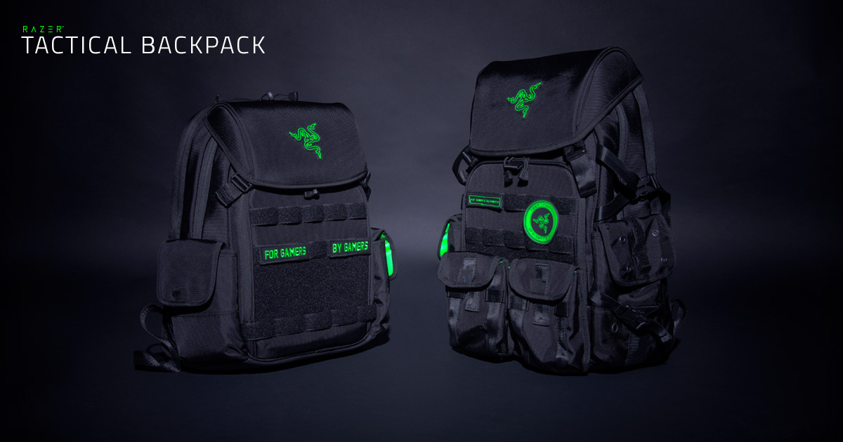team razer tactical backpack gaming accessories